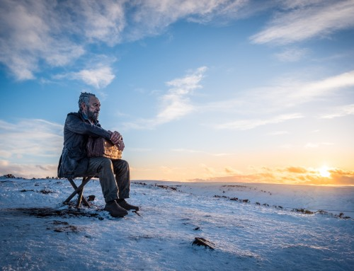 The Seated Man, Snow In The North York Moors National Park.