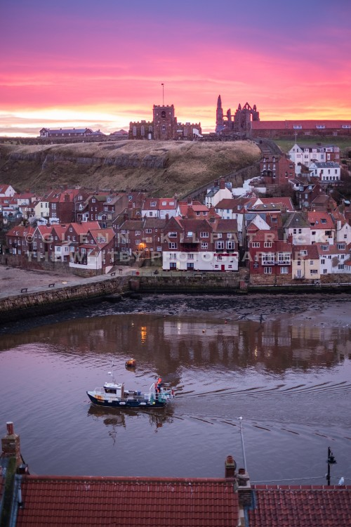 Whitby Harbour Sunrise Feb 2018