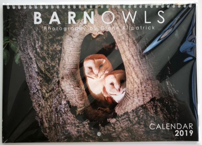 Barn Owl Calendar 2019 - By The Whitby Photographer Glenn Kilpatrick