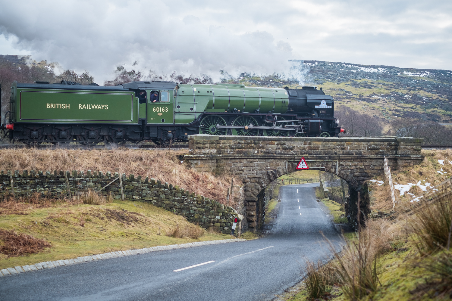 Steam Locomotive 60163 Tornado Leaving Goathland March 2018
