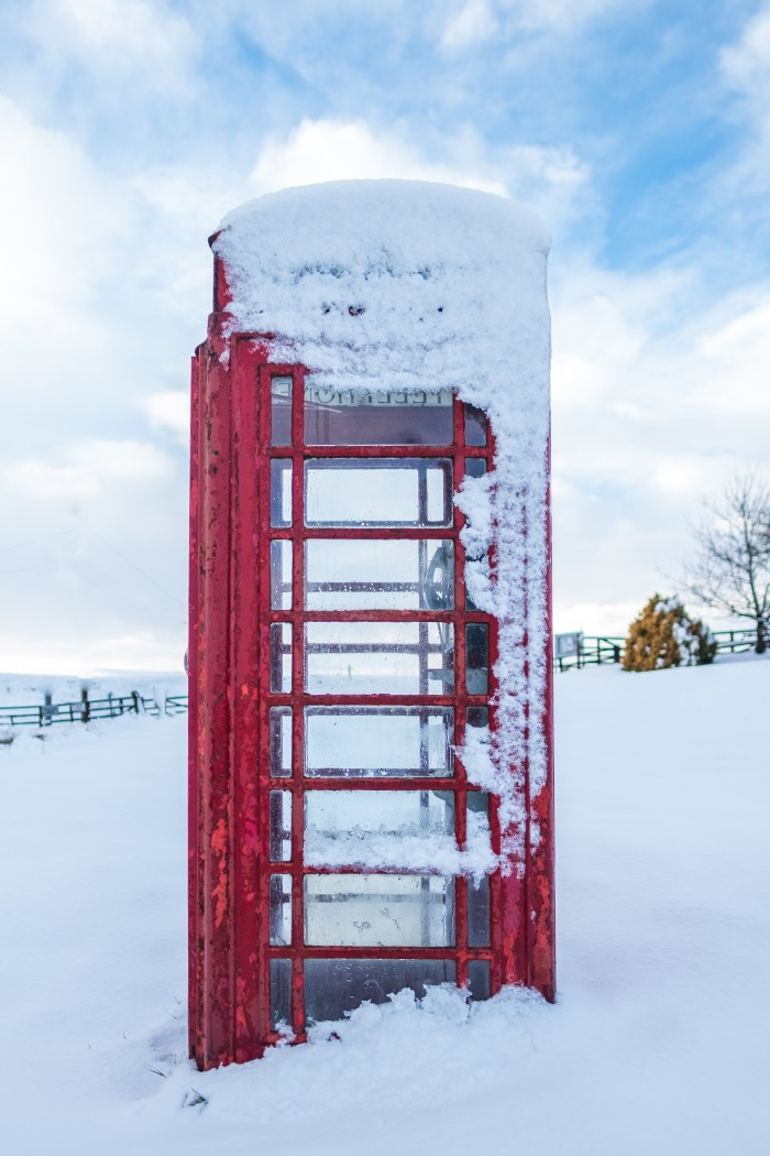 Rosedale Phone Box In the Snow - Photograph By Glenn Kilpatrick - The Whitby Photographer ®