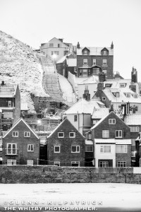 Whitby Tate Hill, Sandside At 199 Steps, Whitby In Heavy Snow - Feb 2018