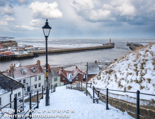 Snow In Whitby, Feb 2018 The Beast From The East.