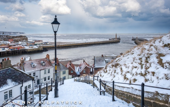 Whitby In Heavy Snow. Photography By Glenn Kilpatrick, The Whitby Photographer ®