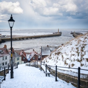 Whitby In The Snow, 199 Steps View
