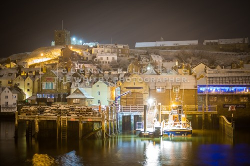 Whitby Lifeboat And East Side - Whit