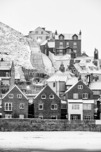 Whitby 199 Steps - Whitby In The Snow - Snowing At Whitby