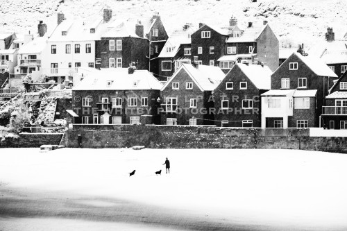 Tate Hill Beach - Whitby In The Snow - Snowing At Whitby