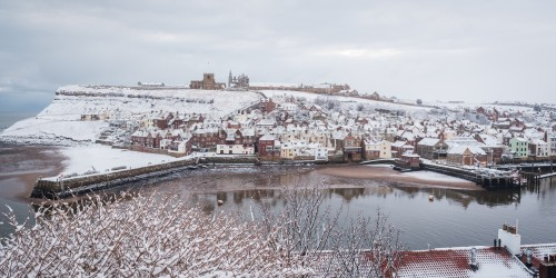 Harbour View In Daylight Whitby In The Snow - Snowing At Whitby (40 of 122)