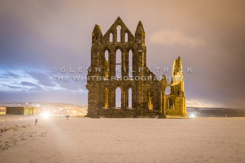 Whitby Abbey In The Snow