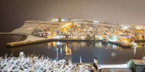 Whitby Harbour In The Snow - Whitby In The Snow - Snowing At Whitby