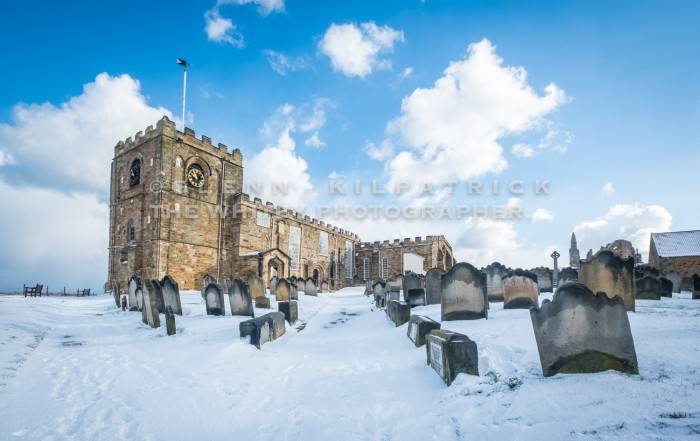 St Mary's Church At Whitby Whitby In The Snow - Snowing At Whitby