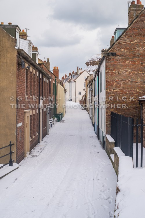 Fresh Snow On Henrietta Street - Whitby In The Snow - Snowing At Whitby