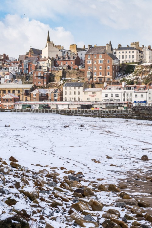 Snow On Tate Hill Beach - Whitby In The Snow - Snowing At Whitby