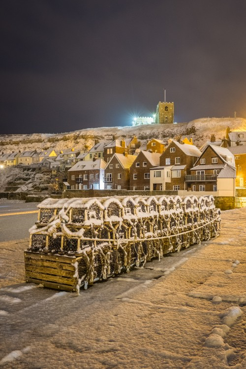 Whitby Tate Hill Pier - Snow Covered Crab Pots