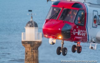 Whitby Coastguard Helicopter Rescue - April 2018