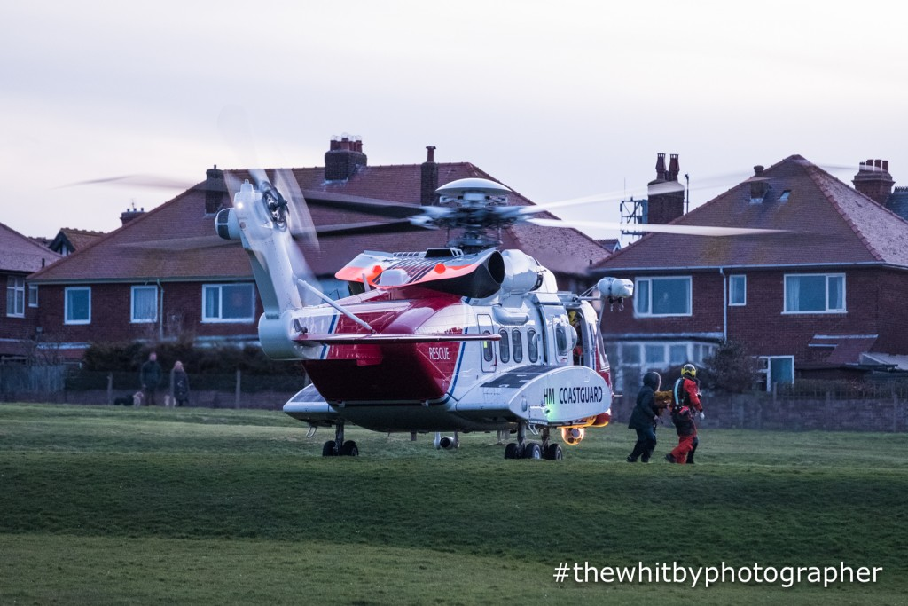 Whitby Coastguard Helicopter Rescue - April 2018 - #thewhitbyphotographer