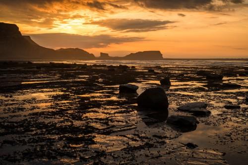 Sunset Colours At Saltwick Nab