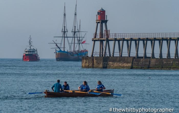 Captain Cooks Endeavour #cooksendeavour Sailing Into Whitby. June 1st 2018