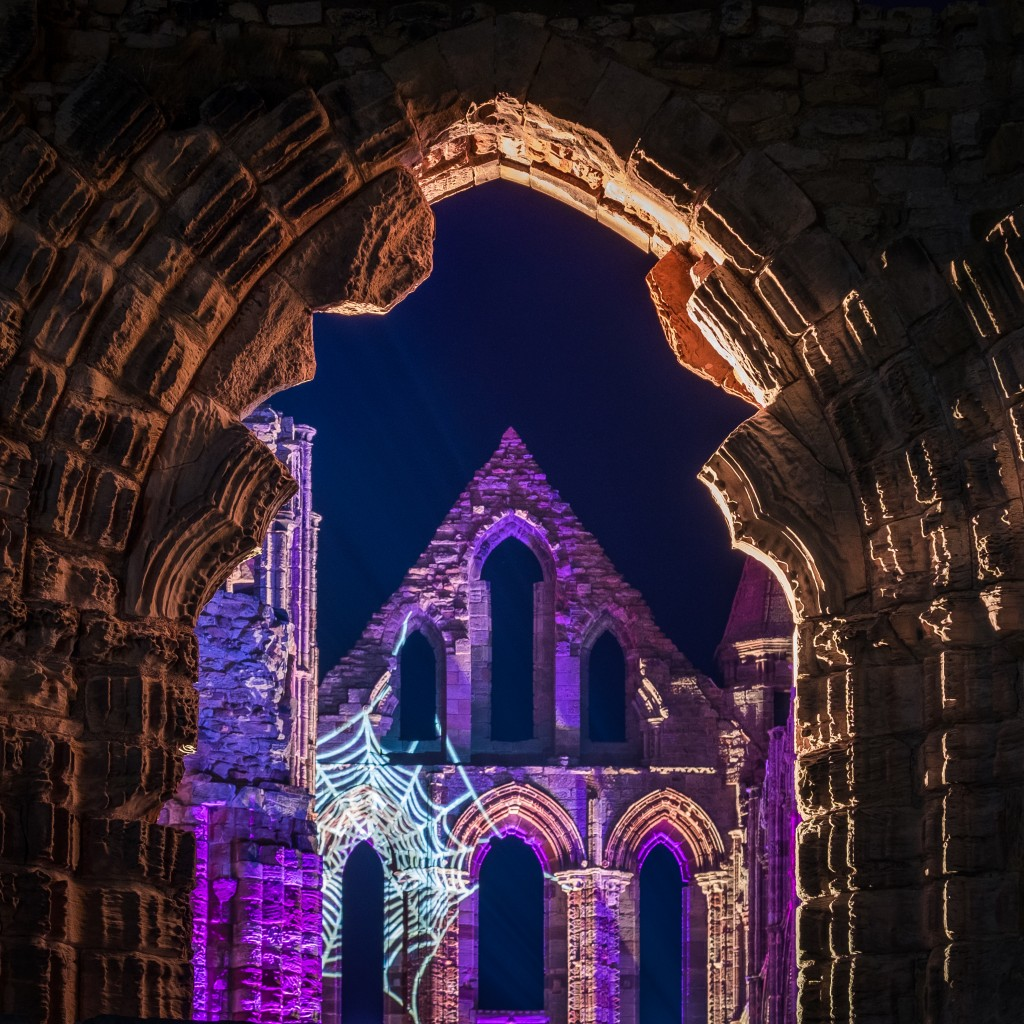 Illuminated Abbey At Whitby