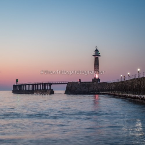 Whitby Piers With Sunset Colours, May 2018
