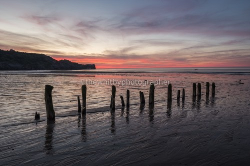 Sandsend Sunset June 2018. A sunset at Sandsend beach near Whitby North Yorkshire