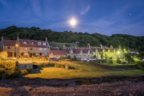 Sandsend Village Moonrise