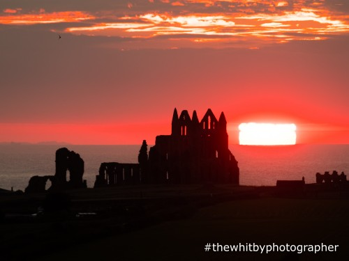 Whitby Abbey Sunset - Medium Canvas Offer