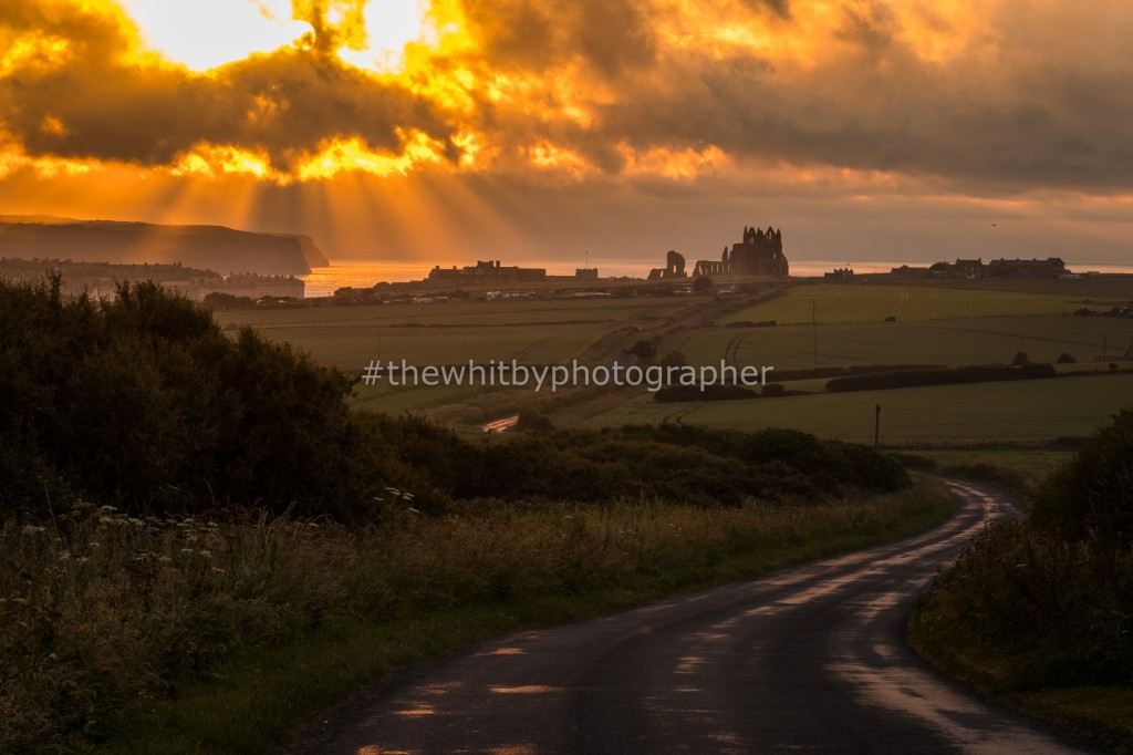 Suns Rays Over Whitby From High Gate Howe