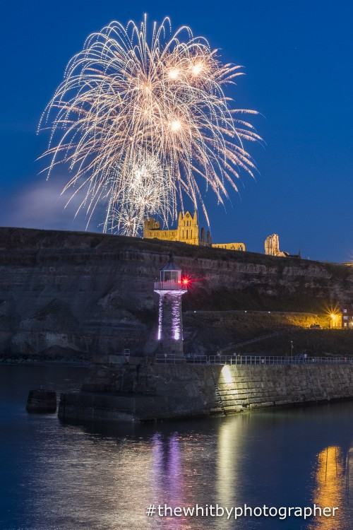 Fireworks Over Whitby Abbey
