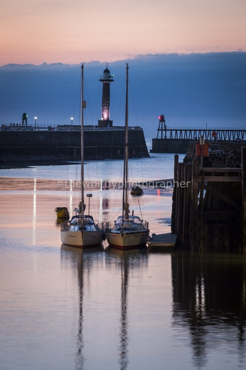 Fish Pier Yachts In Whitby Harbour