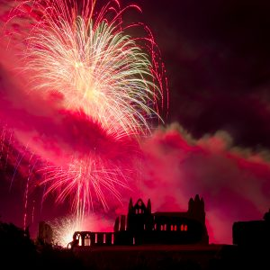 Whitby Abbey Coasters - Regatta Fireworks