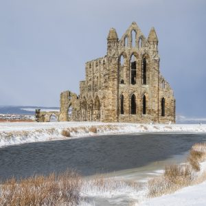 Whitby Abbey Coasters - Abbey In The Snow