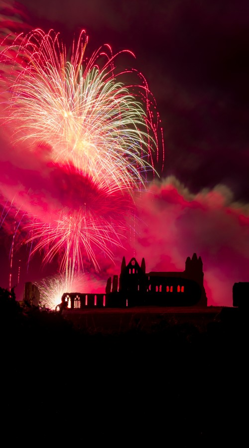 Whitby Abbey Fireworks - Regatta Phone Case