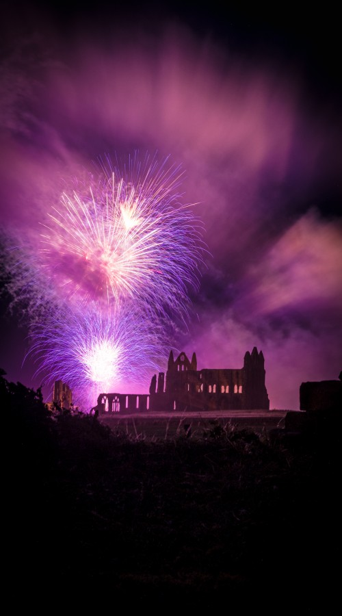 Whitby Abbey Fireworks Phone Case