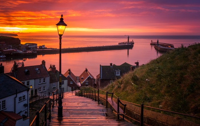 199 Steps Sunset At Whitby