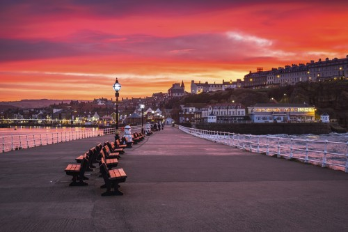 Whitby Placemats - Midwinter Sunset On West Pier