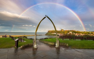 Whitby Placemats - Rainbow Over the Whalebones