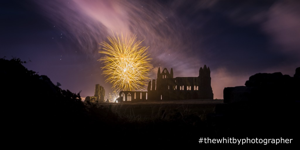Whitby Regatta Fireworks Over Whitby Abbey