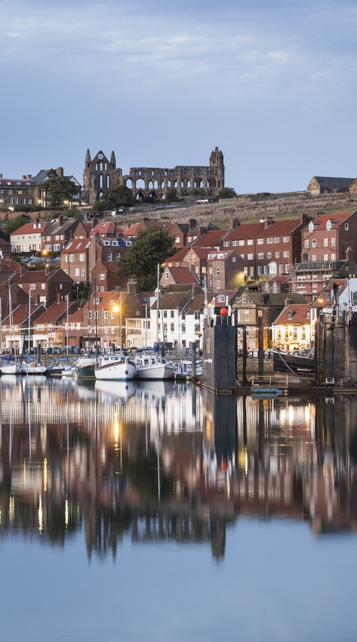 Whitby Phone Cases - Whitby Harbour And Abbey Reflection