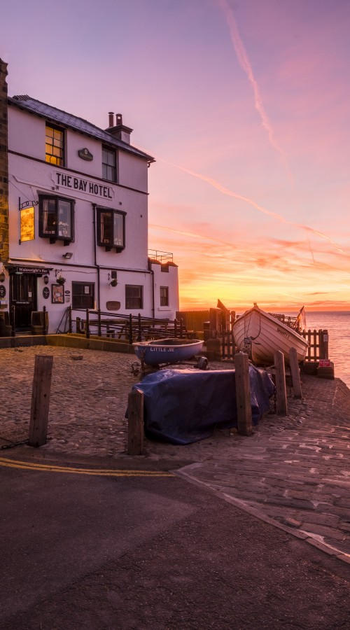 Robin Hoods Bay Village Sunrise Phone Case
