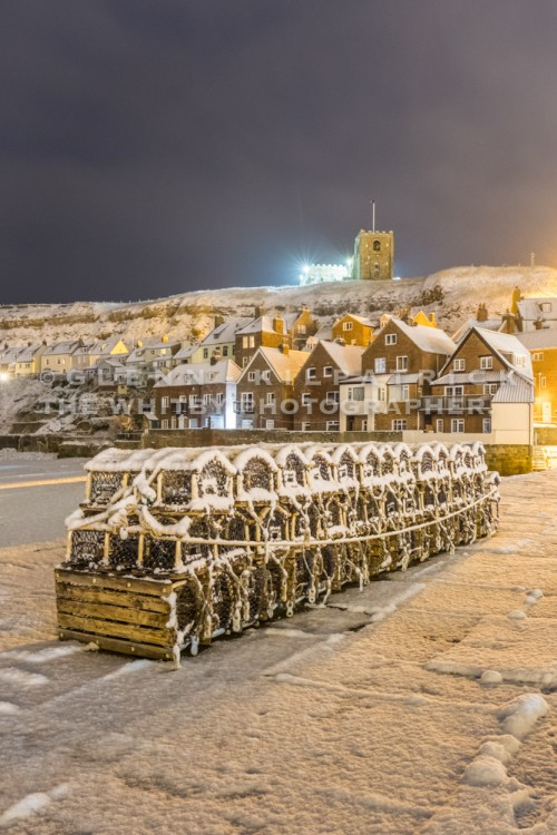 Whitby Tate Hill Pier Christmas Card - Winter 17/18