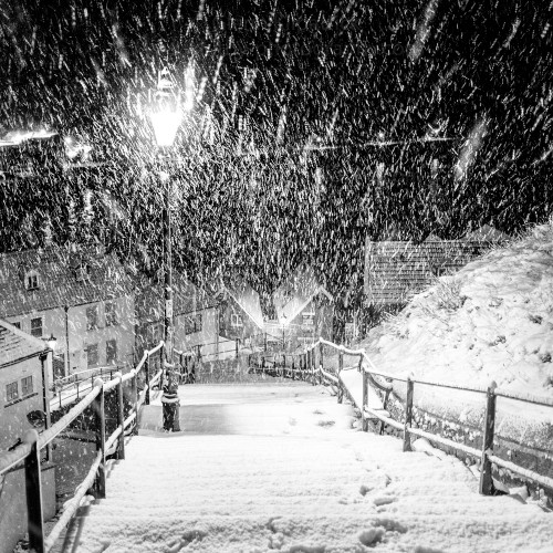 Whitby Coasters 199 Steps In The Snow