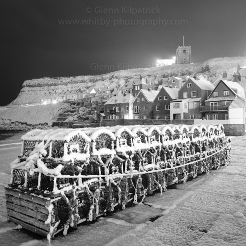 Whitby Coasters - Tate Hill Pier Snow Scene