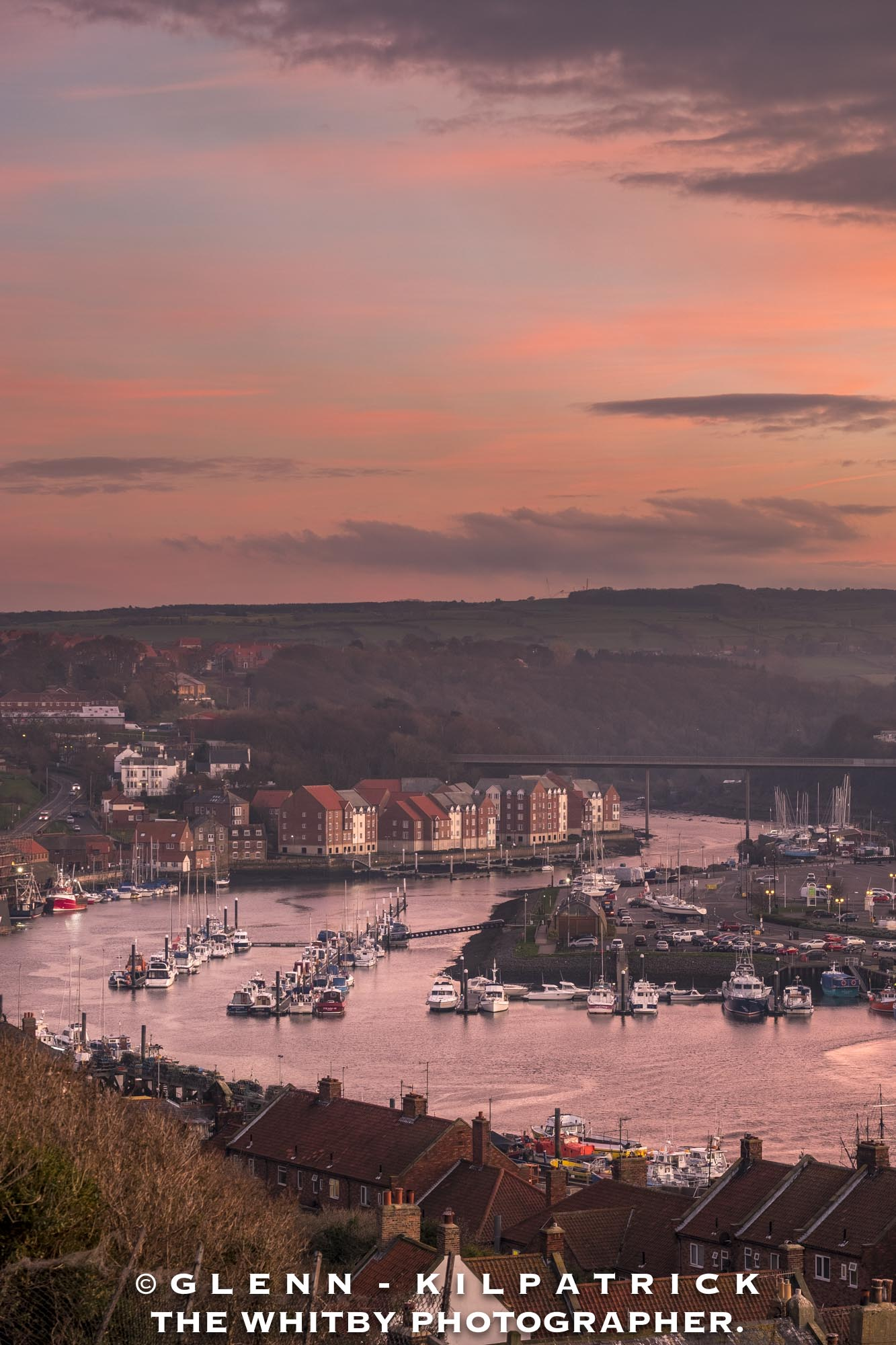 Whitby Harbour Sunset from 199 Steps