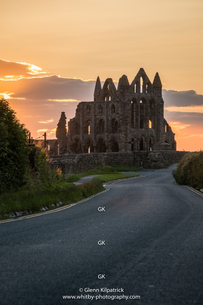 Whitby Abbey Sunset 30 by 15