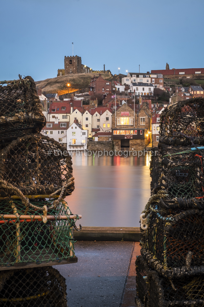 Whitby Harbour Twilight Behind Irish Annies