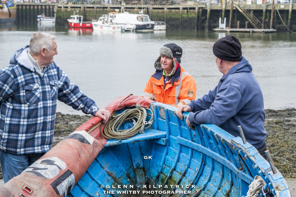 Whitby Salmon Fishing - Jacking The Boat Up To Patch Any Holes.