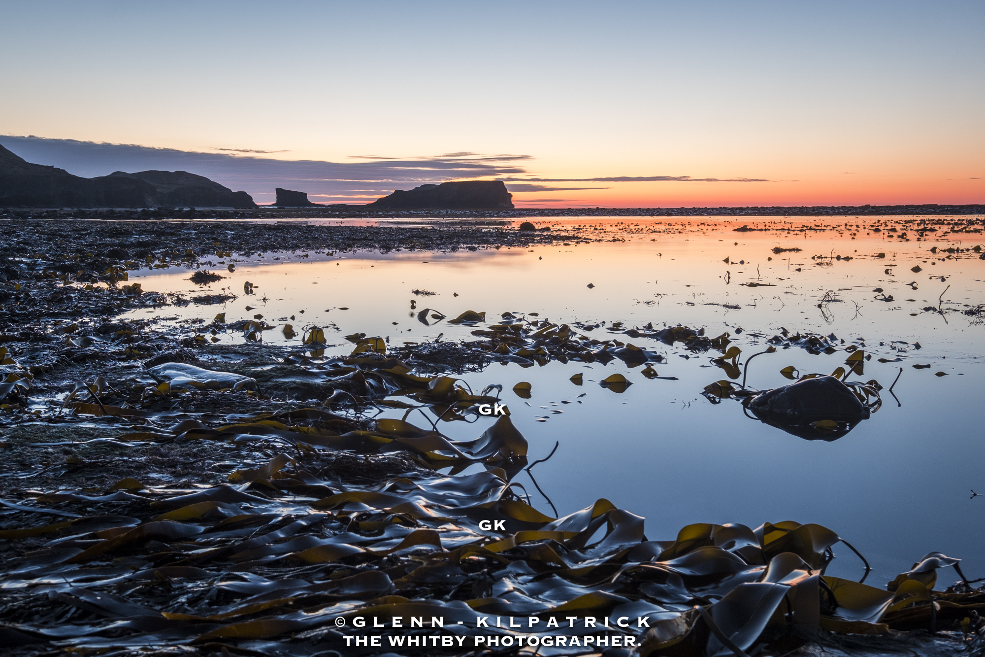 Kelp Forests At Saltwick Bay Yorkshire Coast Sunset