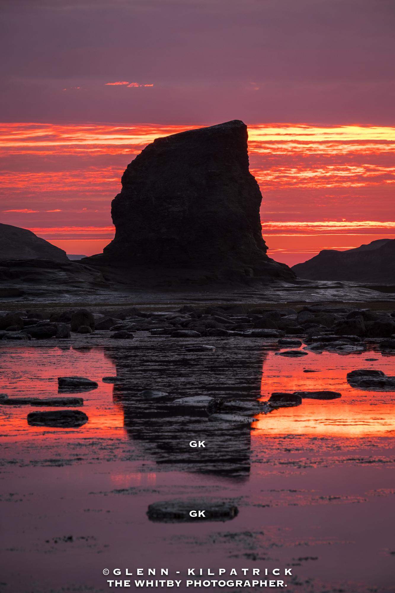 Black Nab Saltwick Bay Sunset